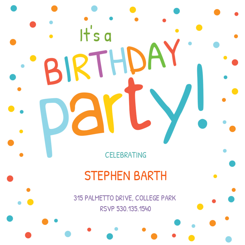 Free Birthday Invitation Templates For Kids Greetings Island