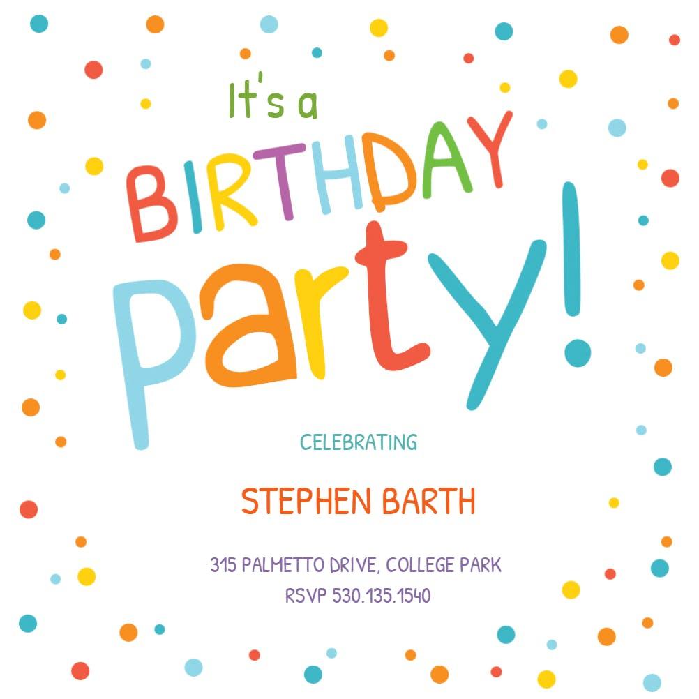 Kids Birthday Invitation Templates Free Greetings Island