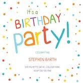 Confetti Dots Border - Birthday Invitation