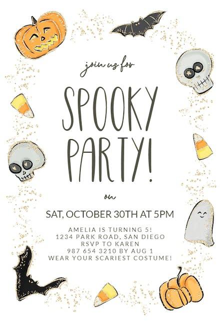 Free Printable Halloween Birthday Party Invitations.Halloween Party Invitation Templates Free Greetings Island