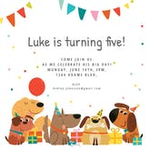 Delighted Dogs - Birthday Invitation