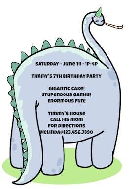 Dinosaur - Birthday Invitation