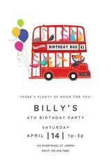 Double-Decker Day - Birthday Invitation
