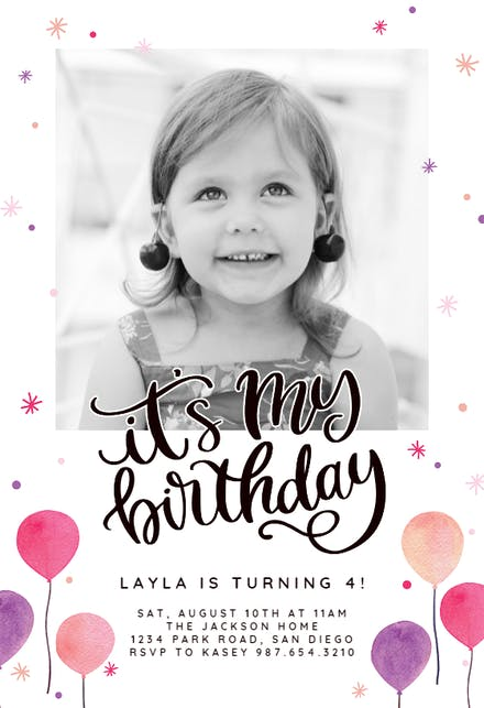 Kids Birthday Invitation Templates Free