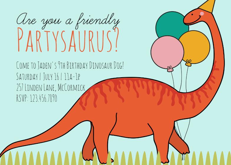 Prehistoric Dinosaur Party Invitación De Cumpleaños Gratis Greetings Island