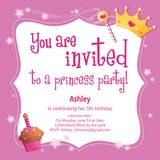 Princess Magic - Invitación de Cumpleaños