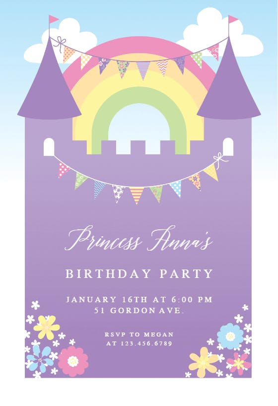 Girls Birthday Invitation Templates Free Greetings Island