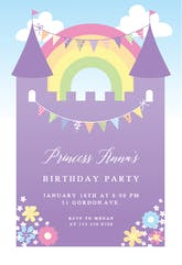 Purple Castle - Birthday Invitation Template