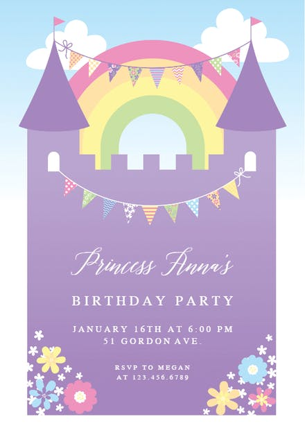 Girls Birthday Invitation Templates Free