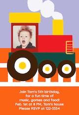 Train - Birthday Invitation