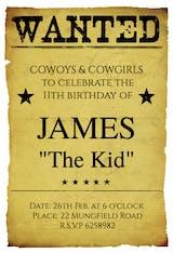 Western Birthday Party - Invitación de Cumpleaños