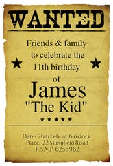 Western Birthday Party - Birthday Invitation