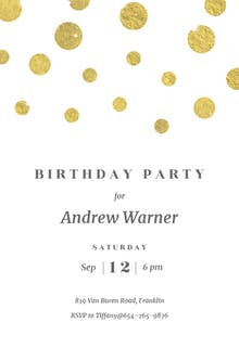 Stamped Dots - Birthday Invitation