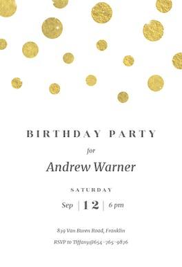 Stamped Dots - Birthday Invitation