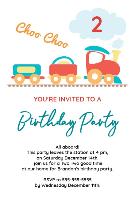 2nd Birthday Party Train