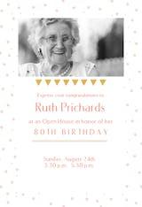 Bday Open House Party - Birthday Invitation