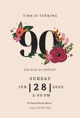 Botanical milestone - Birthday Invitation