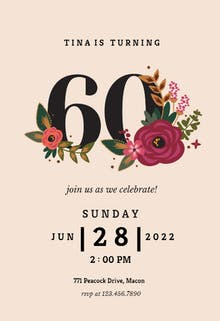 70th birthday invitation templates free greetings island