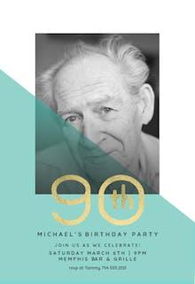 Diagonal split 90 - Birthday Invitation