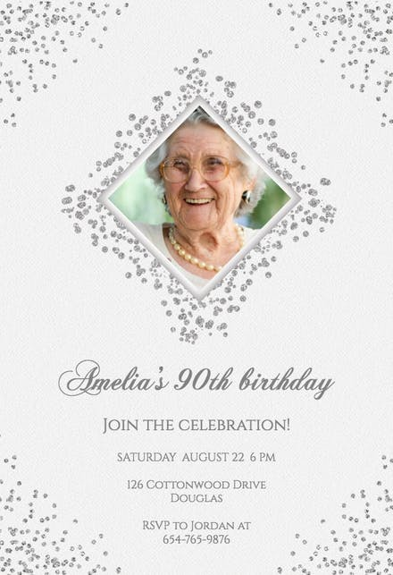Enjoyable 90Th Birthday Invitation Templates Free Greetings Island Funny Birthday Cards Online Barepcheapnameinfo