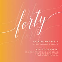 Dream Gradient - Birthday Invitation