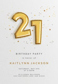 21st birthday invitation templates free greetings island foil balloons birthday invitation filmwisefo