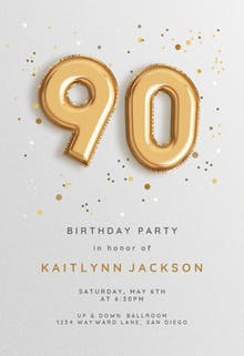 90th birthday invitation templates free greetings island