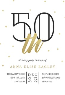 Golden age 50 - Birthday Invitation