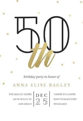 Golden age 50 - Birthday Invitation