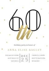 Golden age 60 - Birthday Invitation