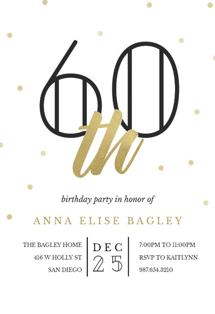Milestone Birthday Invitation Templates Free