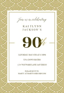 90th birthday invitation templates free greetings island 90th golden birthday birthday invitation filmwisefo