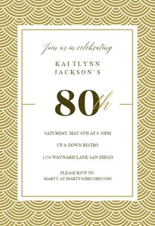 Resource image with regard to 80th birthday invitation templates free printable