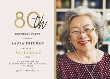 80th birthday invitation templates free greetings island golden line 80 birthday invitation filmwisefo