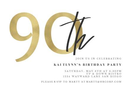 Golden Numerals 90