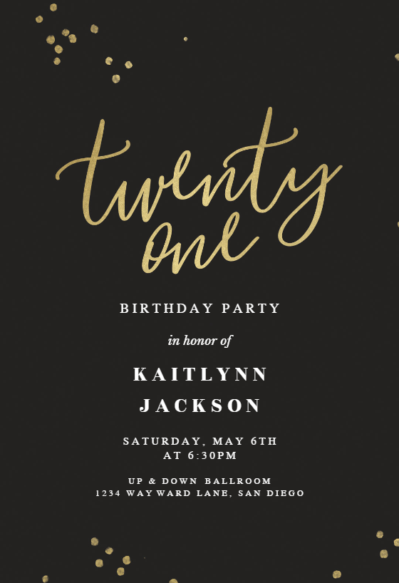 Free 21st Birthday Invitation Templates Greetings Island