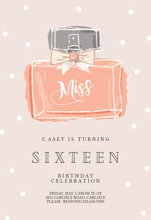 Miss - Birthday Invitation
