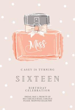 Miss - Birthday Invitation