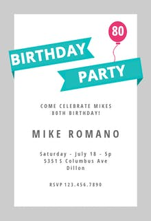 Modern Party - Birthday Invitation