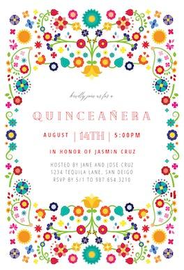 Quinceanera fiesta - Birthday Invitation