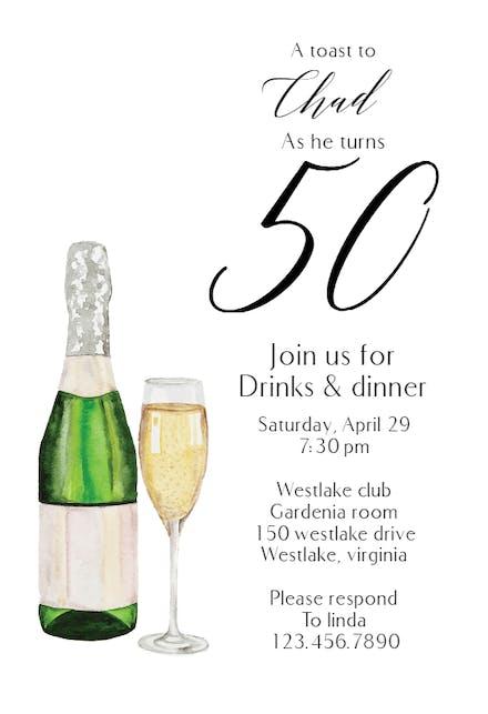 Invitaciones De Cumpleaños Número 50 Gratis Greetings Island