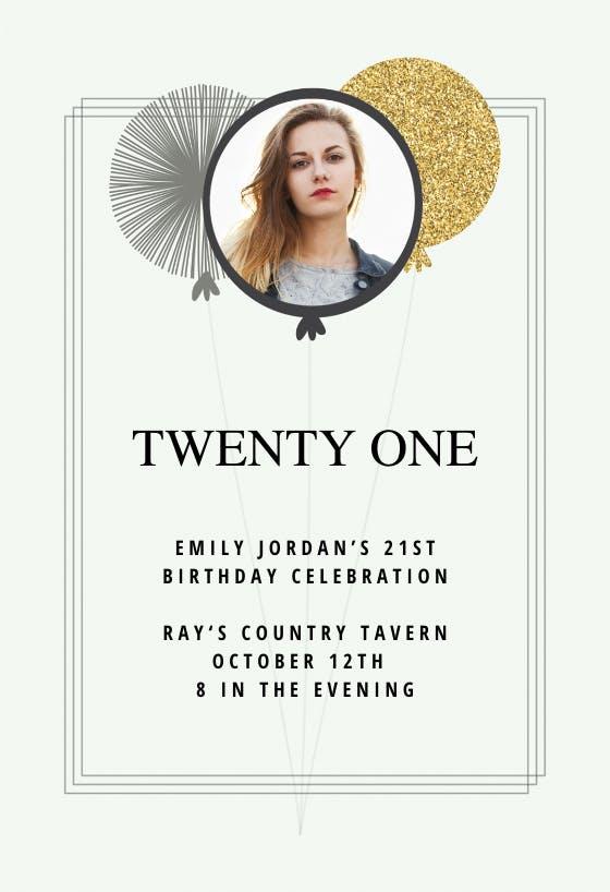 21st Birthday Invitation Templates Free Greetings Island