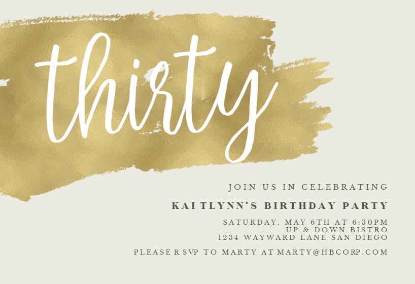 Free 30th Birthday Invitation Templates Greetings Island