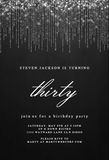 Black And White Party Invitation Template from images.greetingsisland.com