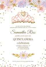 Coming True - Quinceañera Invitation