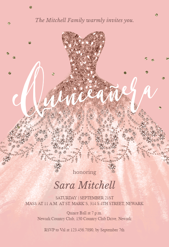 picture about Free Printable Quinceanera Invitations named Quinceañtechnology Invitation Templates (No cost) Greetings Island