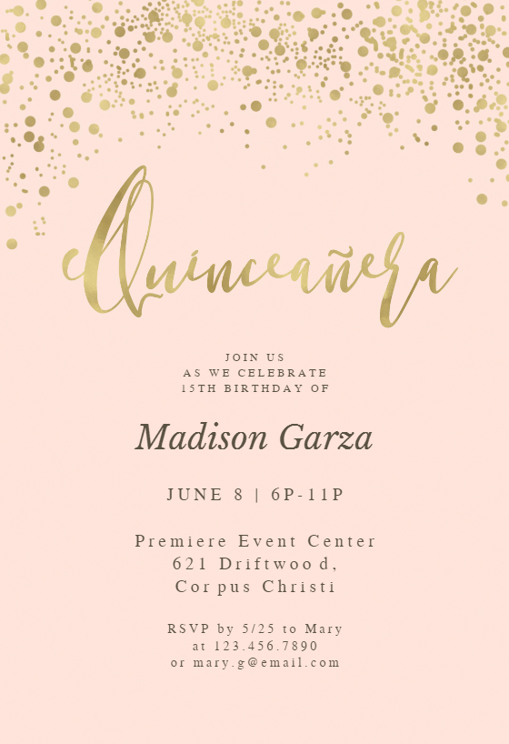 photo relating to Free Printable Quinceanera Invitations called Quinceañgeneration Invitation Templates (Absolutely free) Greetings Island
