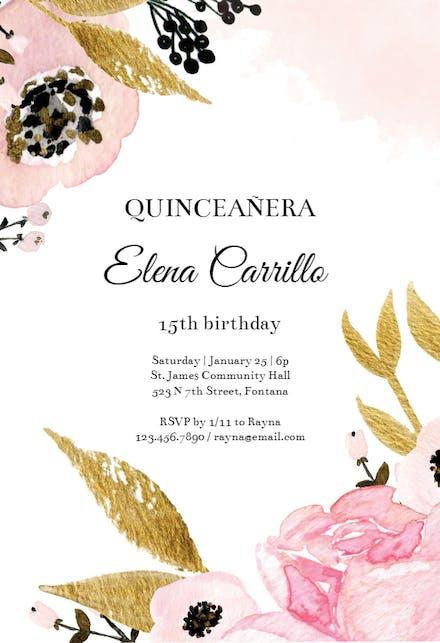 Quinceañera Invitation Templates (Free) | Greetings Island