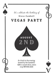 Ace Of Spades - Printable Party Invitation Template