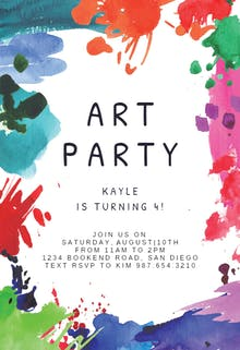 Art Party - Birthday Invitation